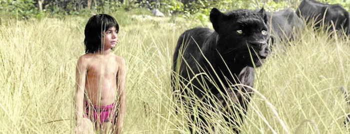 Neel Sethi as Mowgli and Bagheera, voiced by Ben Kingsley in