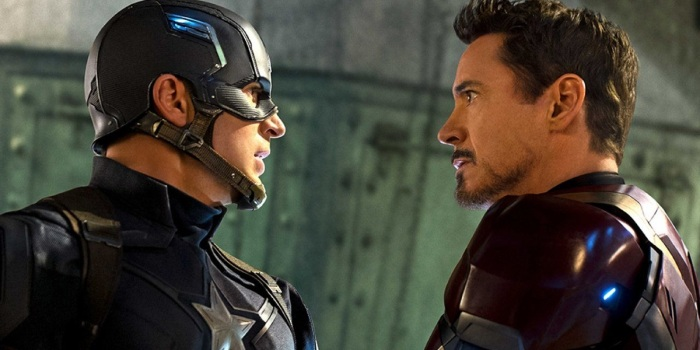 cap and iron man